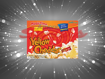 Magic time popcorn yellow cheddar 12st/förp