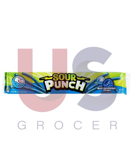 Sour Punch Straw Blue Raspberry 24units/pack
